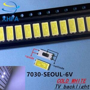 110 шт. Оригинальный светодиодный светильник 7030 в виде бусин, холодный белый, высокая мощность 1 Вт 6 в 100 лм, светодиодный светильник с подсветкой для ЖК-телевизора