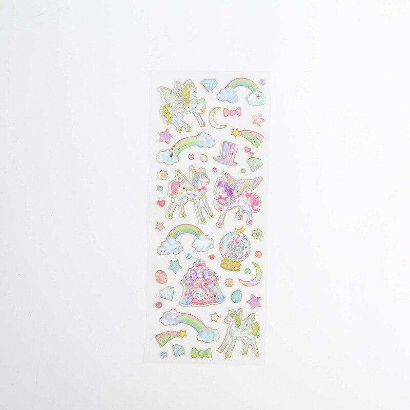 Корейские милые наклейки, штампованные прозрачные DIY дневник, ручная книга, материальное украшение, паста, детские маленькие наклейки, креативные - Цвет: 5