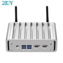 XCY X31G bez wentylatora Mini komputer przemysłowy Intel Core i7 5500U i5 5200U i3 5005U podwójny NIC 2x RS232 HDMI VGA bezprzewodowy dostęp do internetu 4x usb Windows Linux