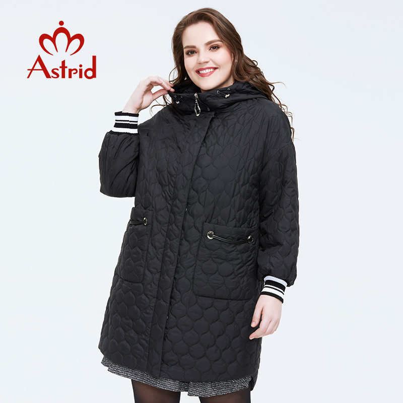 Astrid 2020 Spring New Arrival Women Jacket Plus Size Mid-length Style Outerwear High Quality With A Hood Women Clothes AM-3511