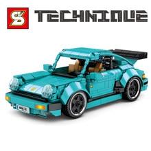 717 sztuk Creator sporty wyścigowe Model samochodu klocki do budowy Expert Classic Racer pojazdu cegły zestawy edukacyjne zabawki dla dzieci prezenty