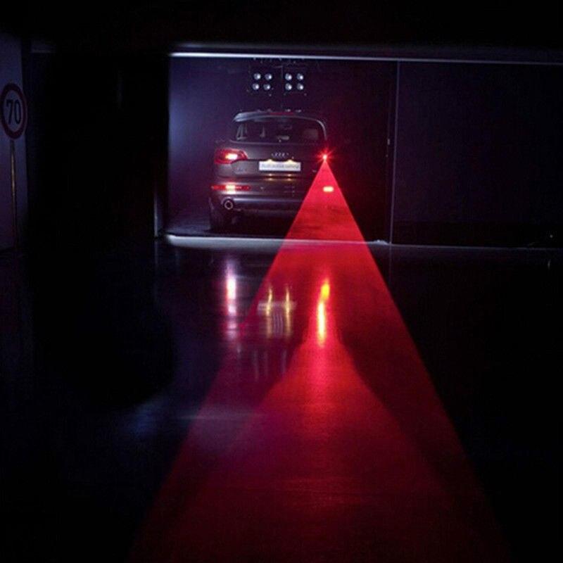 Car LED Laser Fog Light Vehicle Anti-Collision Tail-light Brake Warning Lamp Roadway Safety Traffic Light 1