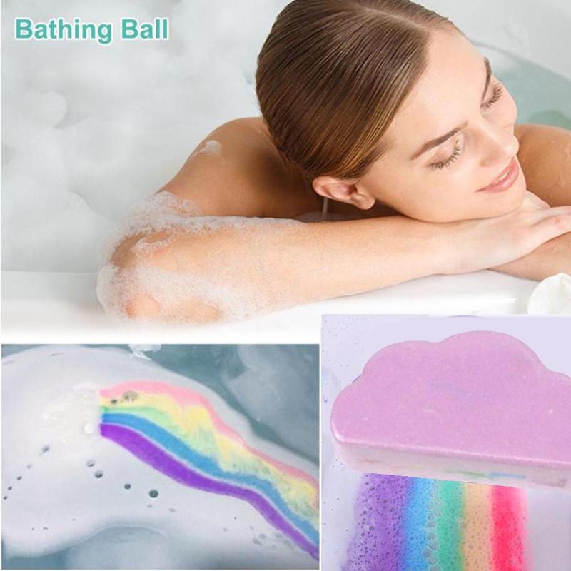 Rainbow Soap Cloud Bath Salt Moisturizing Exfoliating Cleaning Body Skin Bubble Bath Bombs Multicolor For Baby 4