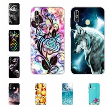 For Samsung Galaxy A60 Case Soft TPU Silicone SM-A606F Cover Dog Patterned Shell