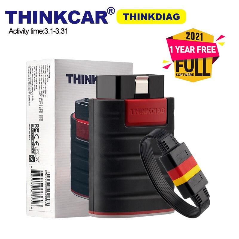 ThinkDiag wszystkie marki samochodów wszystkie usługi resetowania 1 rok za darmo 2021 narzędzie diagnostyczne OBD2 aktywny Test kod ECU Surpass diagzone Thinkdiag