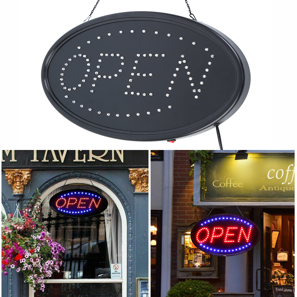 (Ship From USA) LED Ultra Bright Bar Neon Light Sign OPEN Sign For Store Motion Business Cafes