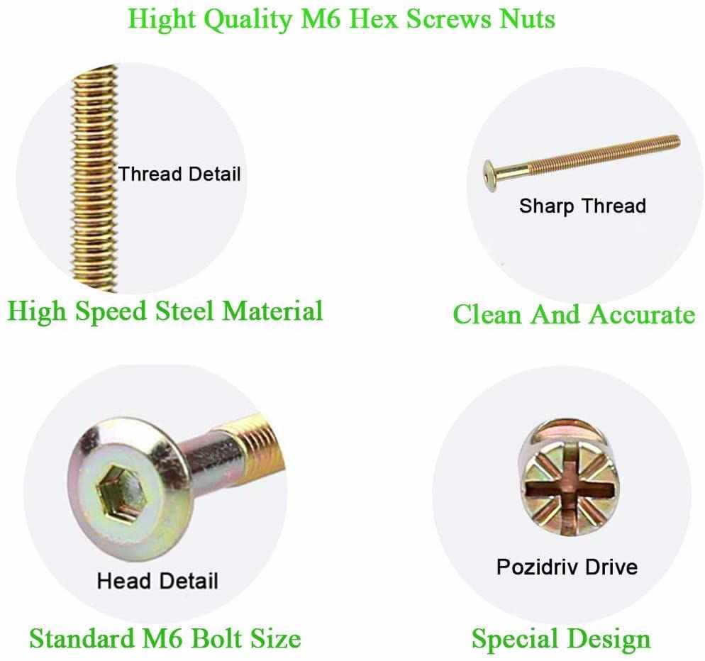 Bolts Nuts Kit With Renches M6 Hex Socket Head Cap Screws Nuts Crib Bunk Bed Furniture Cot Barrel Bolt Nuts Hardware 15mm 120mm Bolts Aliexpress