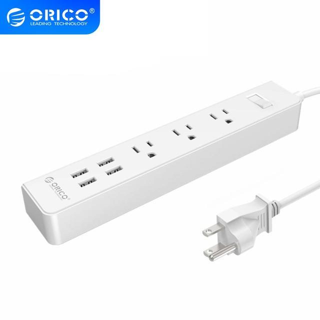 ORICO Smart Home Elektronische Power Streifen Buchse 3 AC Outlets UNS Stecker Mit 4 USB Ports Multifunktions Desktop Buchse