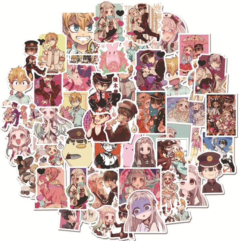 50PCS/Pack Anime Toilet-Bound Hanako-kun Anime Manga Crystal Stickers LD 2020