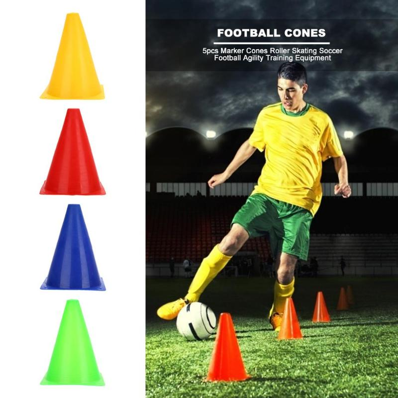 5pcs Marker Cones Roller Skating Soccer Football Agility Training Equipment Professional Sport Marking Cups