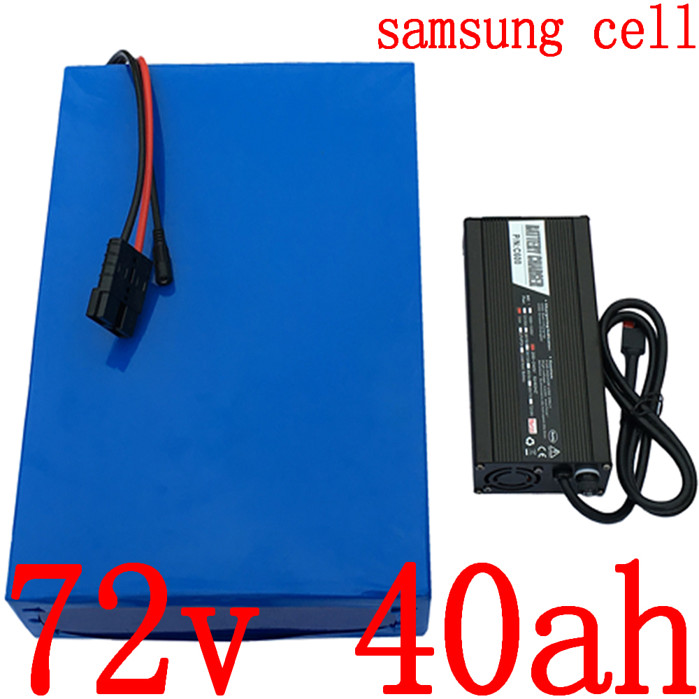 72V Lithium battery pack 72V 40AH electric bicycle battery 72V 3000W 4000W tricycle wheelchair scooter battery use samsung cell image