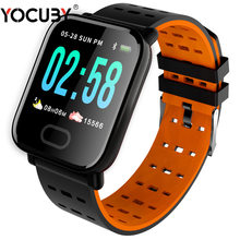 YOCUBY A6 Smart Watch with Heart Rate Monitor Fitness Tracker Blood Pressure Smartwatch Waterproof For Android IOS PK Q8 V6 S9(China)