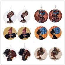 YD&YDBZ Indian Sexy Women Diy Ear Jewelry Trendy Punk Wooden Drop Dangle Earring Round Big African Female Festival Gifts