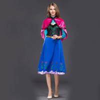 HOT Snow Queen Anna Frozen 2 anime christmas costume halloween costumes for women Women Dresses Cloak vocaloid cosplay