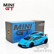 MINI GT 1:64 Lambo Huracan LBWK ver. 1 Light Blue LHD/RHD Diecast Model Car