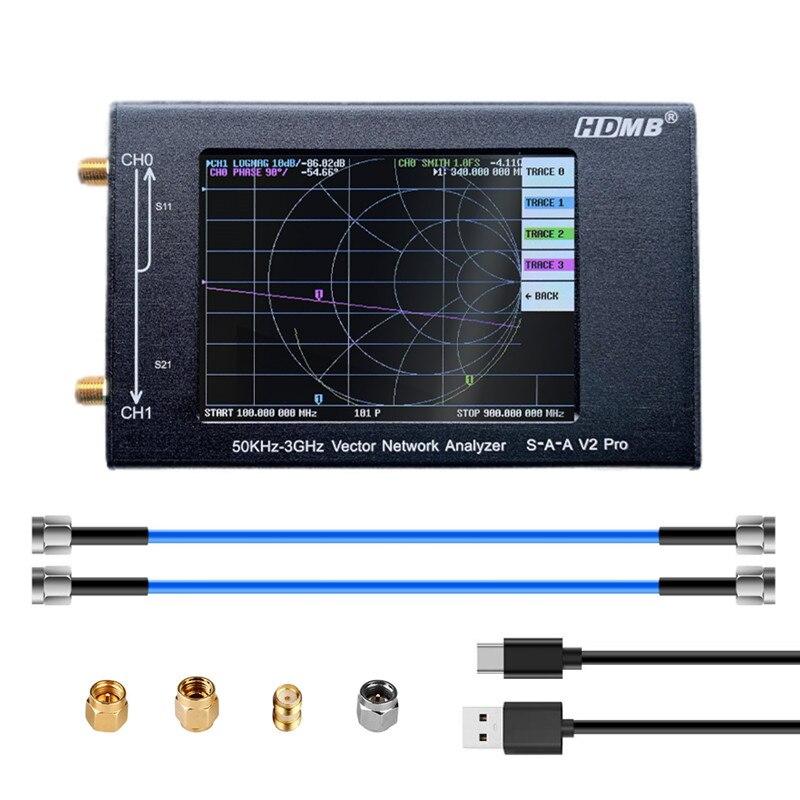 Новый 3,2 дюймовый дисплей алюминиевый чехол 3 ГГц NanoVNA V2 Pro векторный сетевой анализатор HF VHF UHF антенный анализатор