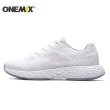 Купить с кэшбэком ONEMIX 2019 Running Shoes For Men Sneakers White Breathable Mesh Lightweight Boosts Marathon Outdoor Walking Sports Run Shoes