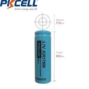 Image 5 - 4 PKCELL ICR17500 Pin 1100MAh 3.7V Li ion Sạc Pin Lithium Cho Đèn Pin Lược Điện Máy Cạo Râu