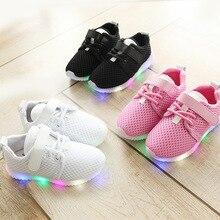 CYSINCOS/Новинка года; модная детская спортивная обувь; Светодиодный светильник для мальчиков и девочек; кроссовки для малышей; Светящиеся повседневные кроссовки; Милые