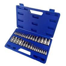34 in1 sleeve  high quality chrome vanadium steel metric machine repair professional tools