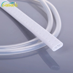 Medical Silicone Perforated Flat Drain Tube Surgical Supplies For Fluids Suction And Collection Fluted Shape Drainage Tube