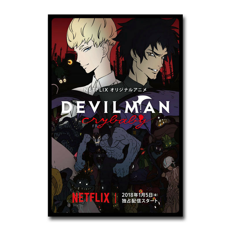 Devilman Crybaby Netflix Japanese Anime TV Show Silk Poster Wall Sticker Decoration Gift image