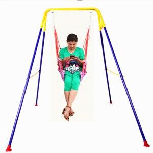 Kinder schaukel Mit einem baby artefakt Baby prellen stuhl baby kind springen stuhl fitness rahmen schaukel innen hängen stuhl spielzeug