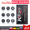 Online V2 53 EU Red Kess V5 017 OBD2 Manager Tuning Kit KTAG V7 020 4 LED Kess V2 5 017 BDM Frame K-TAG V2 25 ECU Programmer review
