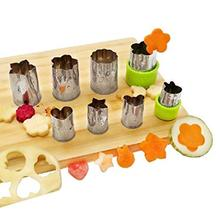 Vegetable Fruit Cutter Mold 8Pcs/set Flowers Cartoon Cutter Mold Stainless Steel Cake Cookie Biscuit Cutting Shape Tools все цены