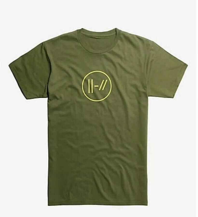 ใหม่กับแท็ก Hot Topic Twenty One นักบิน TØP OLIVE สีเขียว TEE เสื้อ