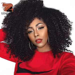 ELEGANT MUSES Jerry Curl 12inch Long Synthetic Ombre Kinky Curly Hair Marley Braid Crochet braid Hair Extensions for Black women(China)