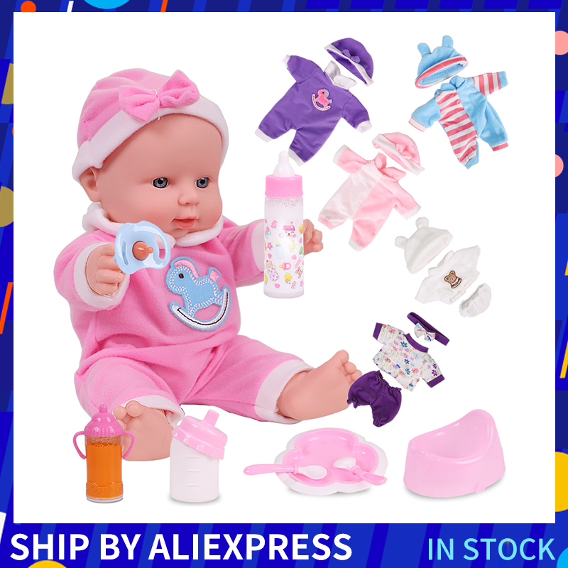 12 inches Lovely Silicone toys For Kids Rubber newborn Baby Doll Silicone Reborn Baby Dolls Christmas Gift for Girls