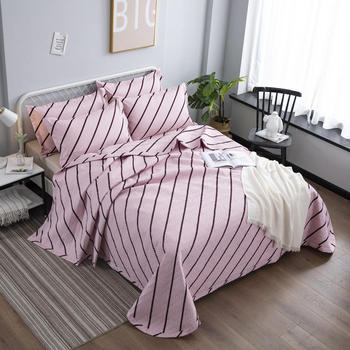 1 Pc Bed cover+2pcs Pillowcases bedding set Personal twill bed Cover light pink Bedding Bedspreads Bed Pillowcases