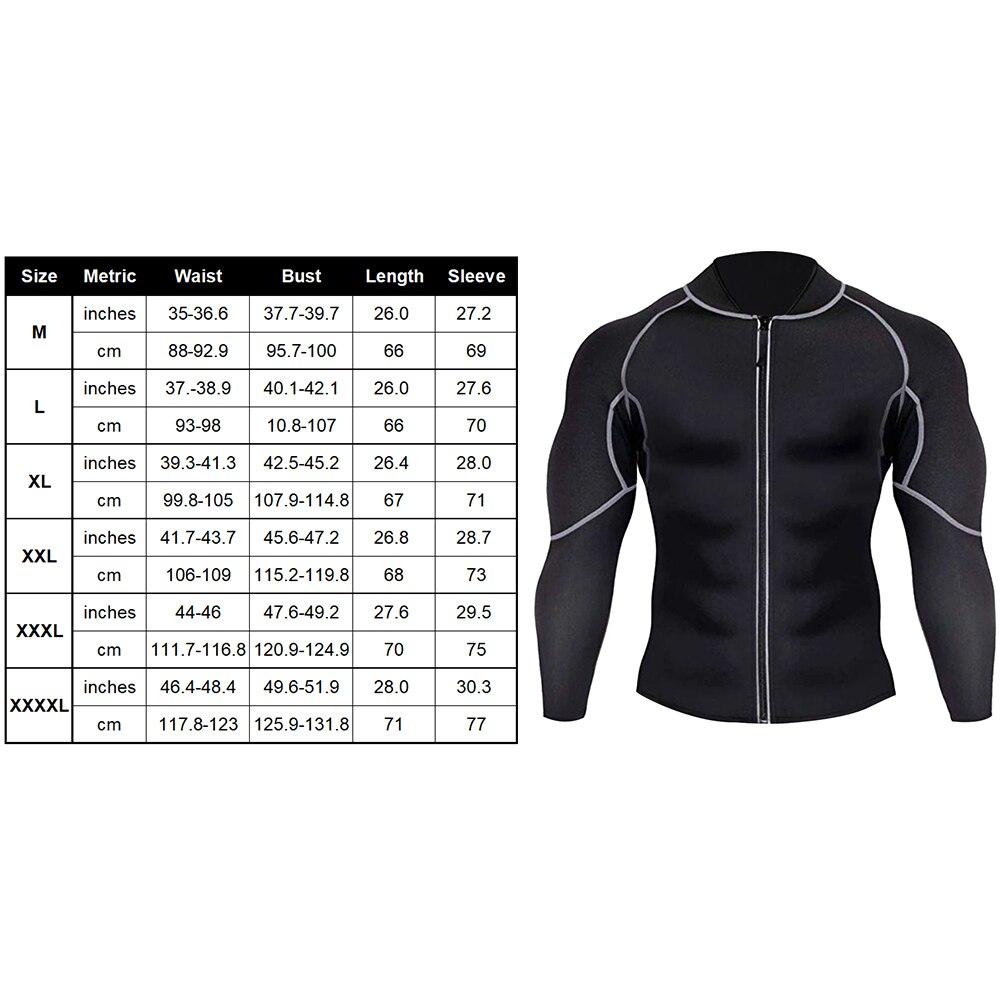 Men Fat Burner Fitness Shirt Slimming Sweat Absorb All Seasons Elastic Sauna Exercise Weight Loss Shaping