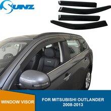 Дефлектор боковых окон для Mitsubishi Outlander 2008, 2009, 2010, 2011, 2012, 2013, погодные экраны, оконные козырьки, защита от солнца и дождя
