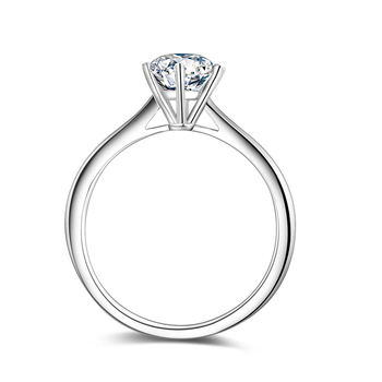 BOEYCJR 925 Silver 1ct F color Moissanite VVS  Engagement Wedding Diamond Ring With national certificate for Women Adjustable 4