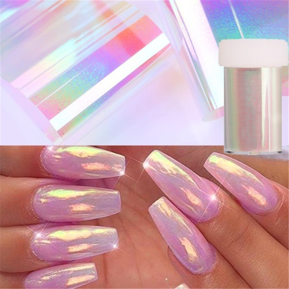 Nail Foils Pearl White Aurora Nail Art Transfer Sticker Marble Series Paper Flower Pattern Slider Nail Art Decals Decorations Stickers Decals Aliexpress