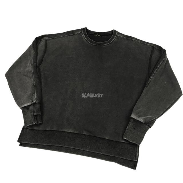 Hip Hopowa Odwrocona W Paski Raglanowa Bluza Wygodny Kroj W Stylu Vintage Czarna Bluza Z Rozcieciami Bocznymi Tanie Tanio
