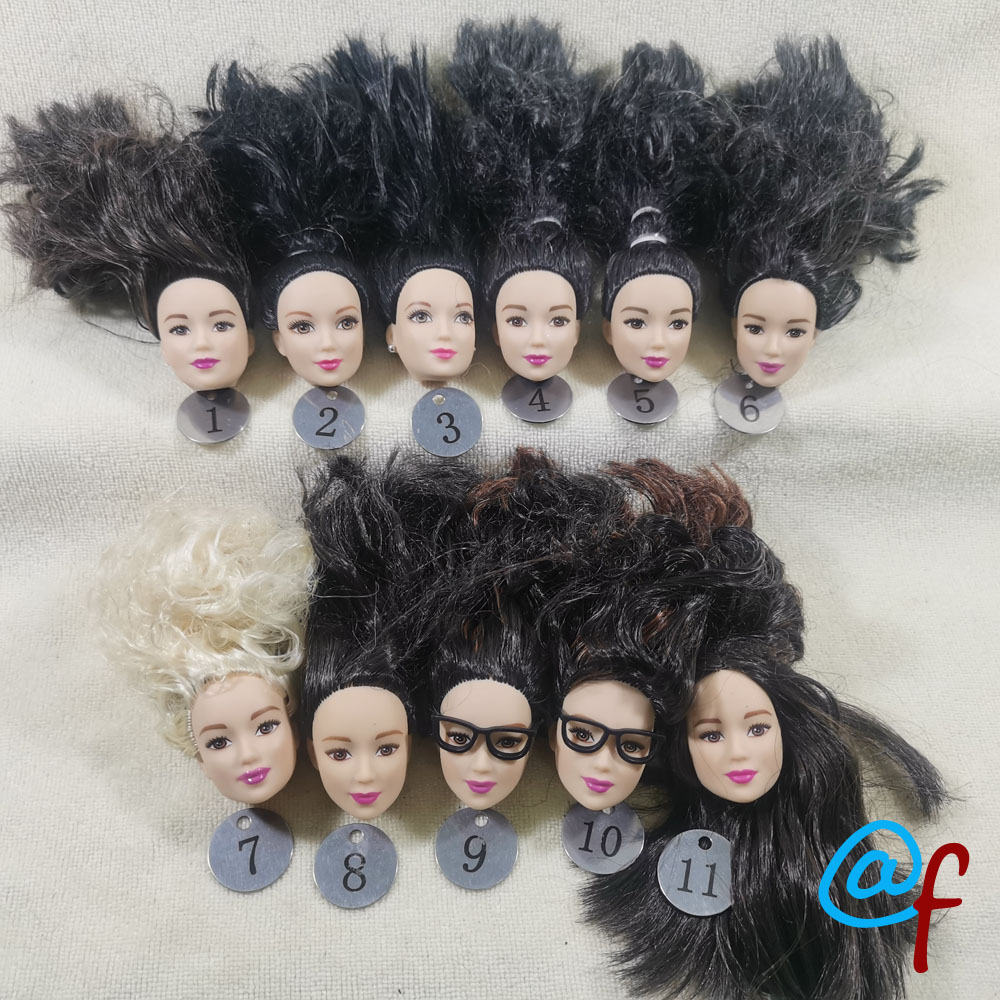 B30-2 Original Foreign Trade East Asia Korea China Beauty NO Smile Phoenix Eyes 1/6 OOAK NUDE Rarely Doll Head Mussed