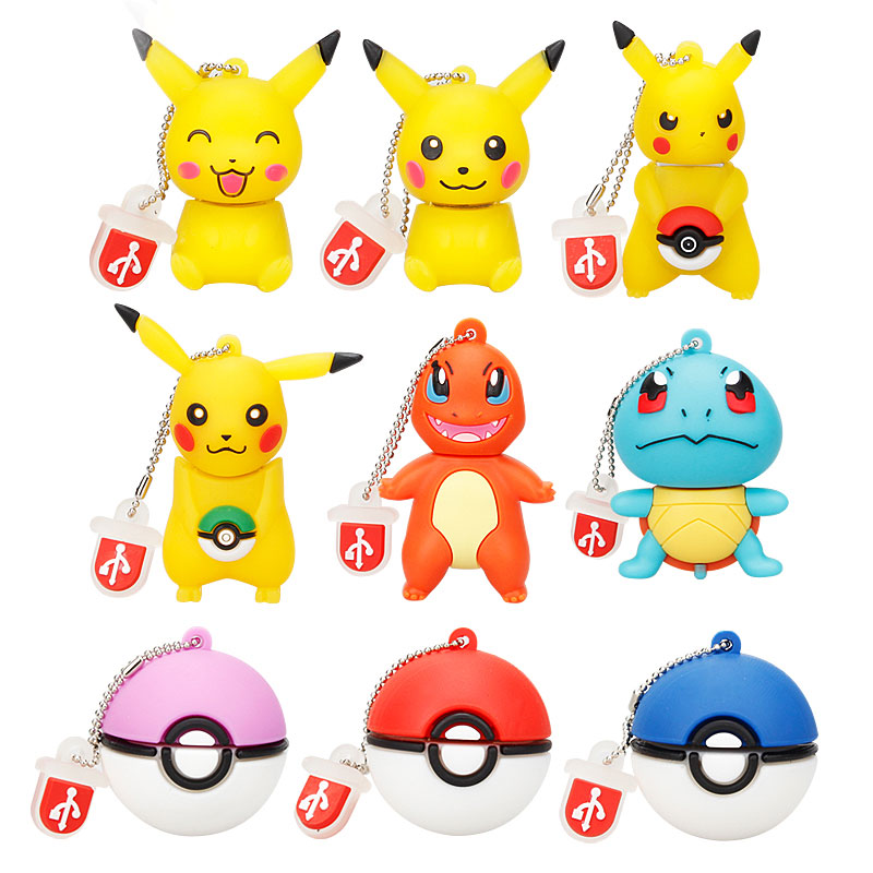 Usb Flash Drive 128gb Elf Ball Pen Drive 64gb Pokemon Pikachu Pendrive 32gb 16gb 8gb 4gb Usb Memory Stick Usb 2.0 Free Shipping