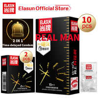Elasun 10 Pieces Top Quality G spot Condom Delay Ejaculation Male Plus Size Condoms Penis Sleeve Sex Toys Safe contraception