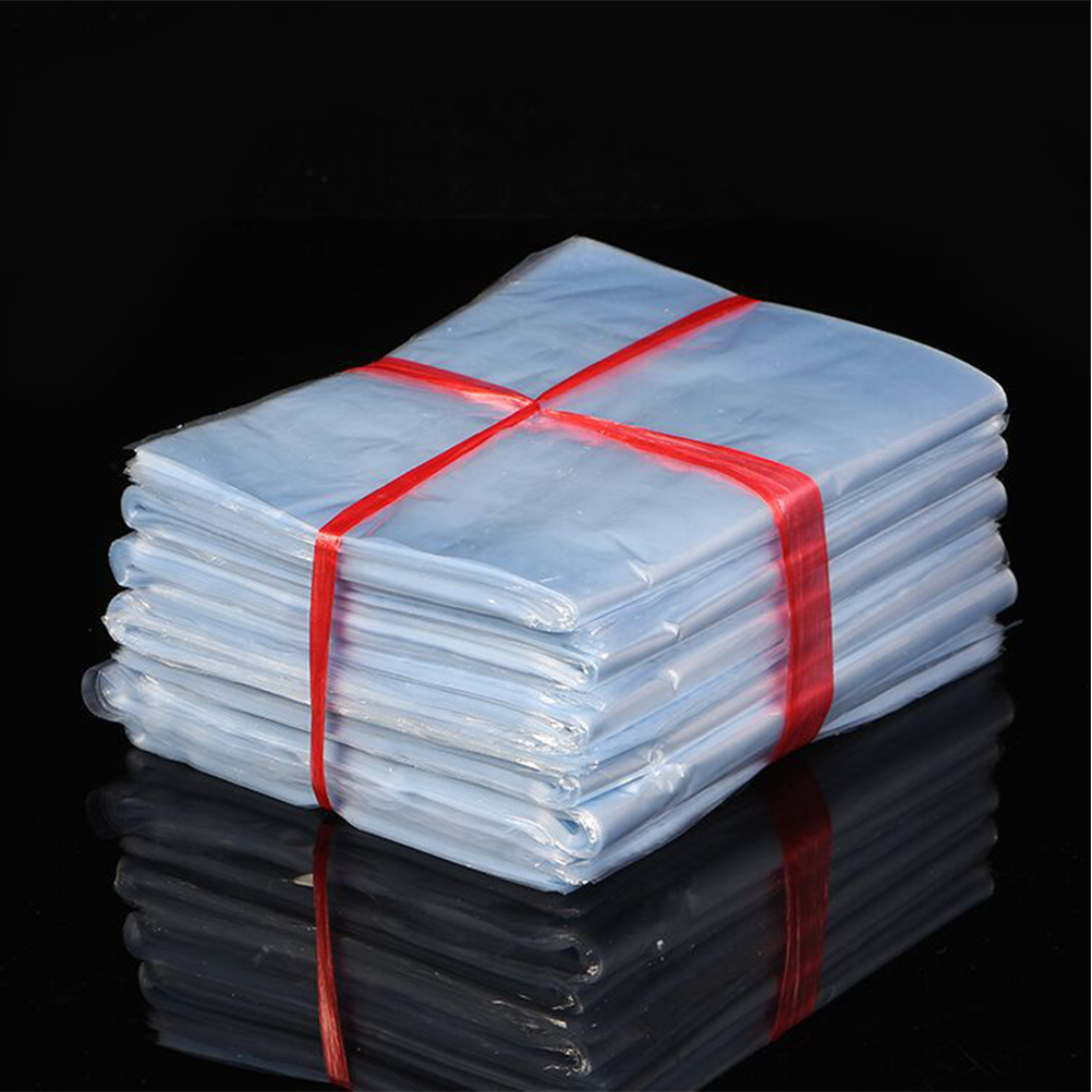100PCS Transparent Laminating Wrappers PVC Shrink Wrap Heat Shrink Bags For Handmade Soaps Bottles Kitchen Organizer
