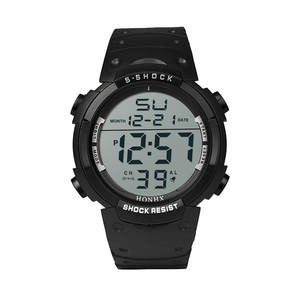 Saatleri Clock Stopwatch Rubber Digital Outdoor Waterproof Sport Fashion LCD Boy Date