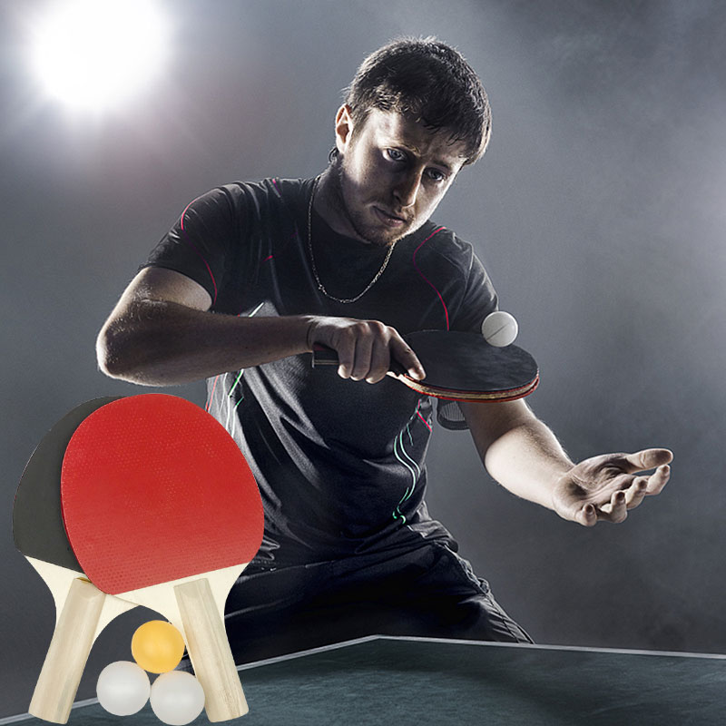 Ping-Pong Racket Practical Durable Wood Colour Game Playground Play Paddler Athletics Pingpong Movement Table Tennis Ball