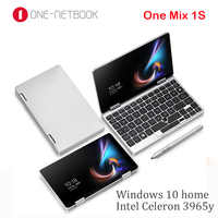 One Netbook One Mix 1S Pocket Laptop Intel Core 3965Y 8GB DDR3 256GB PCI-E SSD Silver Windows10 7 inch Yoga Gaming Notebook