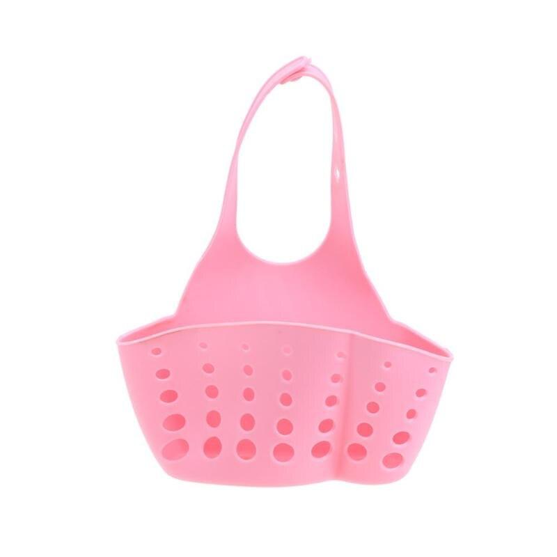 Корпус кухонных полок Колыбель держатель для губок на кухню корзина для хранения - Цвет: Розовый