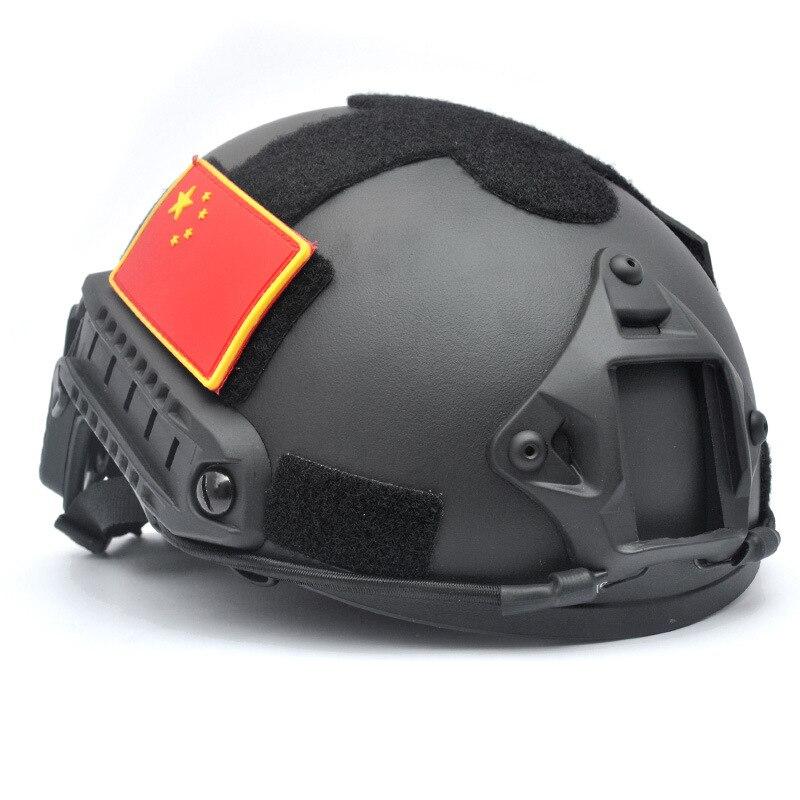 Airsoft Paintball saut casque rapide taille réglable MH tactique BK Rail linceul