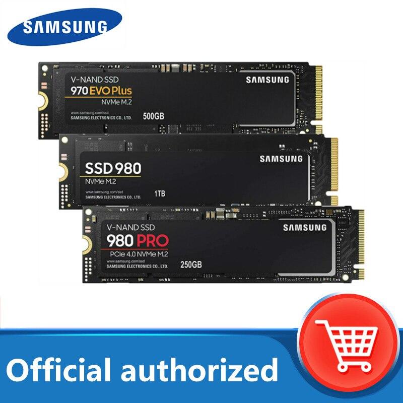 SAMSUNG SSD M.2 500 Гб 970 EVO Plus NVMe Внутренний твердотельный накопитель 980 PRO 1 ТБ жесткого диска 980 nvme 250 Гб жесткий диск для ноутбука, компьютера