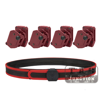 """4PCS Pistol Magazine Holster + Belt Set IPSC USPSA IDPA 1.5"""" Shooting Inner & Outer Belt Competition Multi-Angle Speed Mag Pouch"""