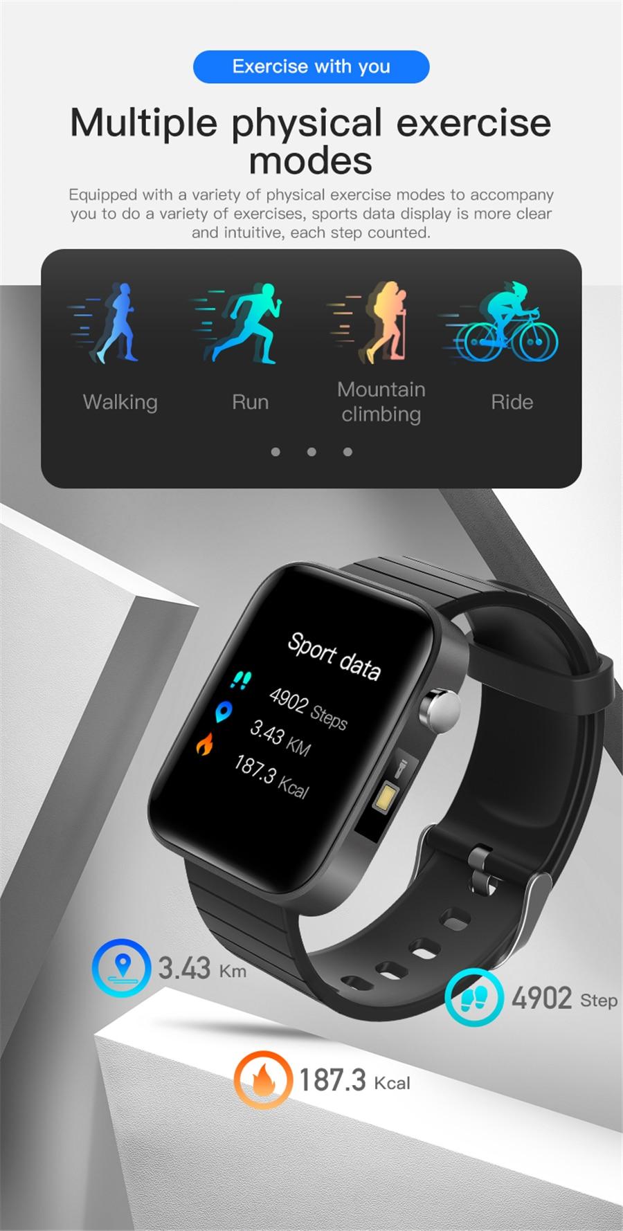 He575a43593624c55923e89edcde23239f T68 Men Women Smart Watch with Body Temperature Measure Sports Fitness Watch Heart Rate Blood Pressure Oxygen Monitor Smartwatch